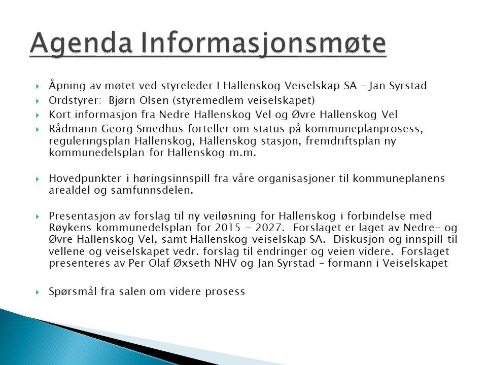Agenda Informasjonsmøte