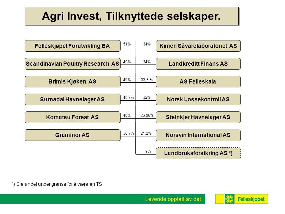 Agri Invest, Tilknyttede selskaper.