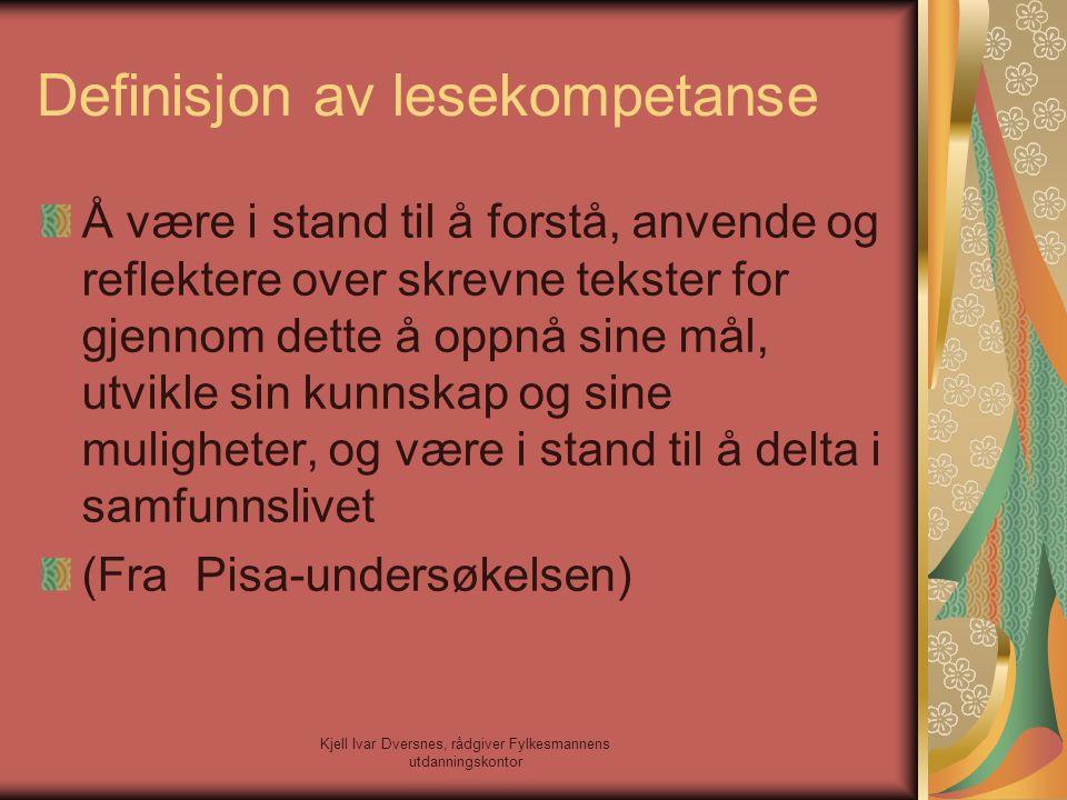 Definisjon av lesekompetanse