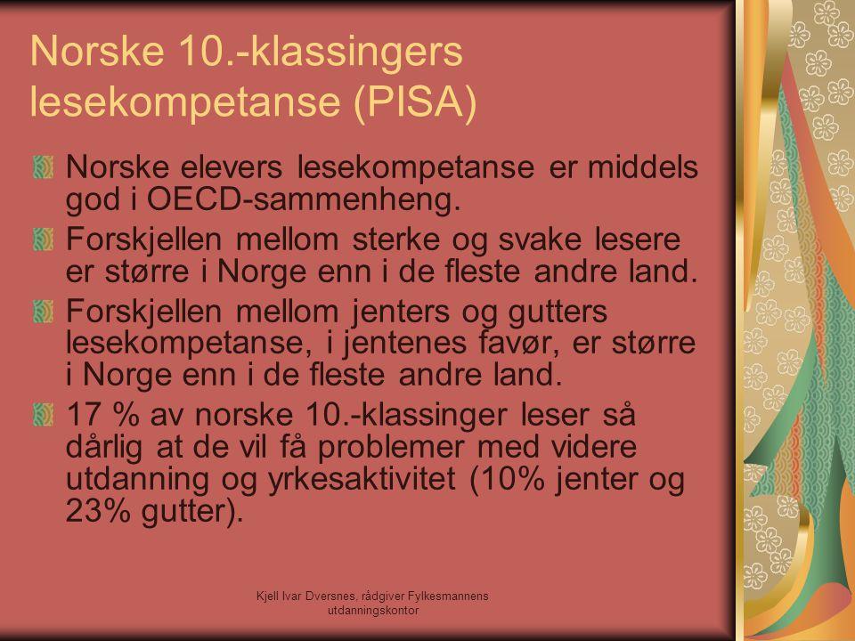 Norske 10.-klassingers lesekompetanse (PISA)