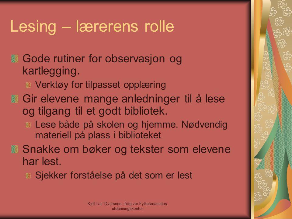 Lesing – lærerens rolle