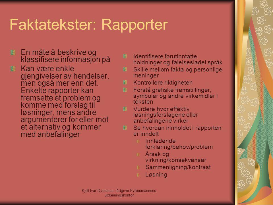Faktatekster: Rapporter