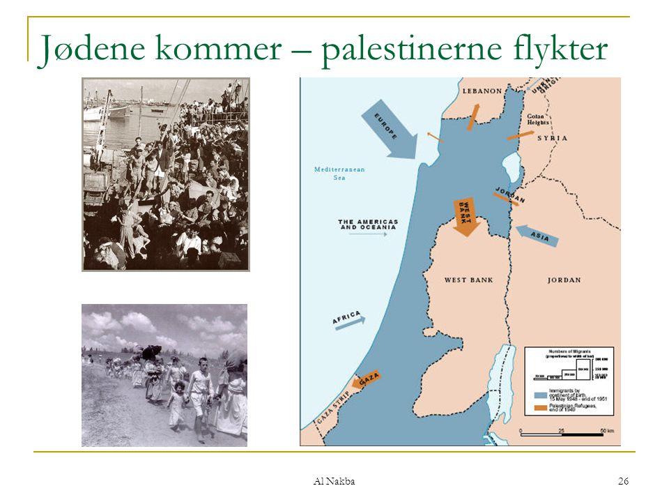 Jødene kommer – palestinerne flykter