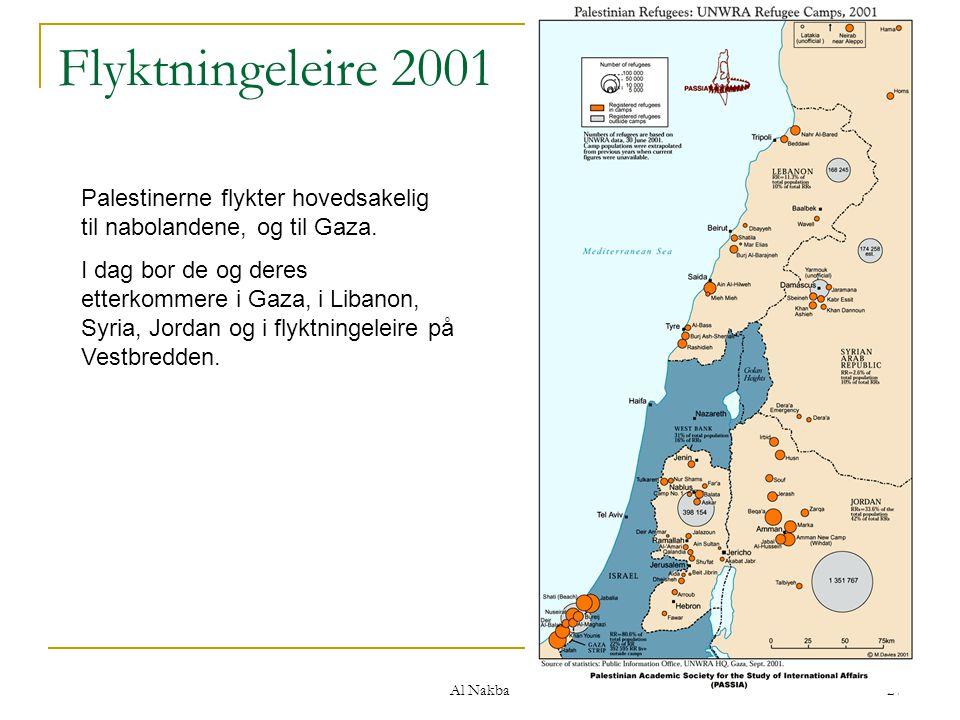 Flyktningeleire 2001 Palestinerne flykter hovedsakelig til nabolandene, og til Gaza.