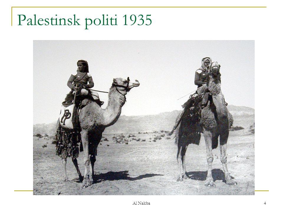 Palestinsk politi 1935 Al Nakba