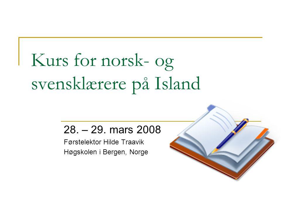 Kurs for norsk- og svensklærere på Island