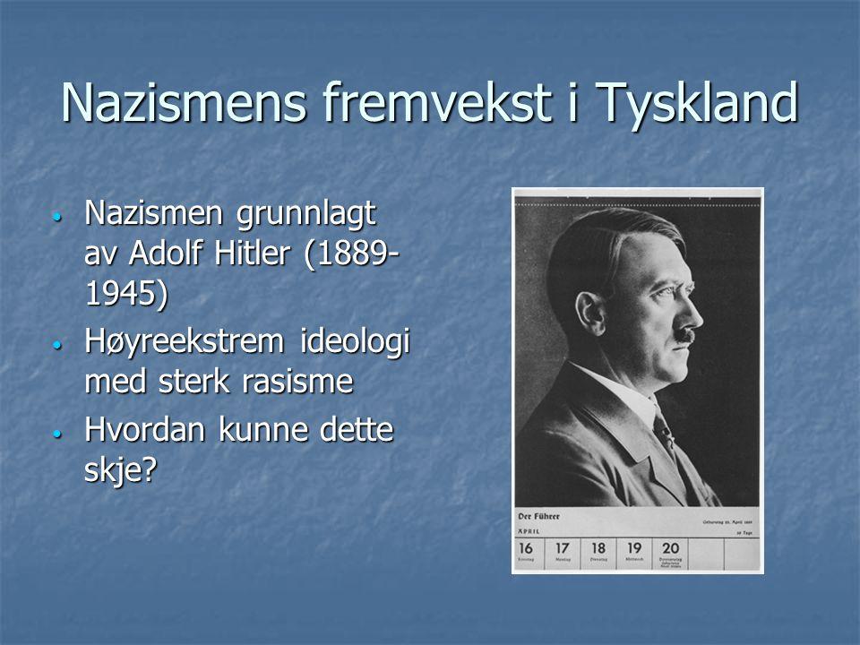 Nazismens fremvekst i Tyskland