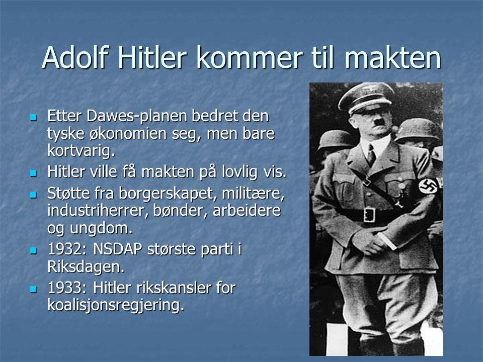Adolf Hitler kommer til makten