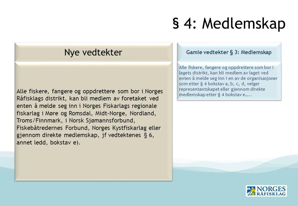 Gamle vedtekter § 3: Medlemskap