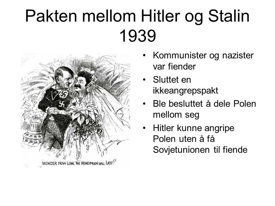 Pakten mellom Hitler og Stalin 1939