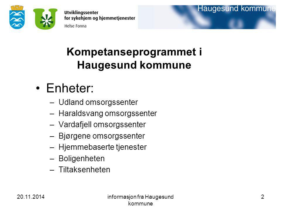 Kompetanseprogrammet i Haugesund kommune