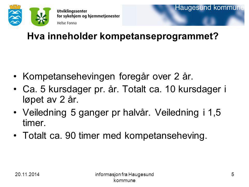 Hva inneholder kompetanseprogrammet