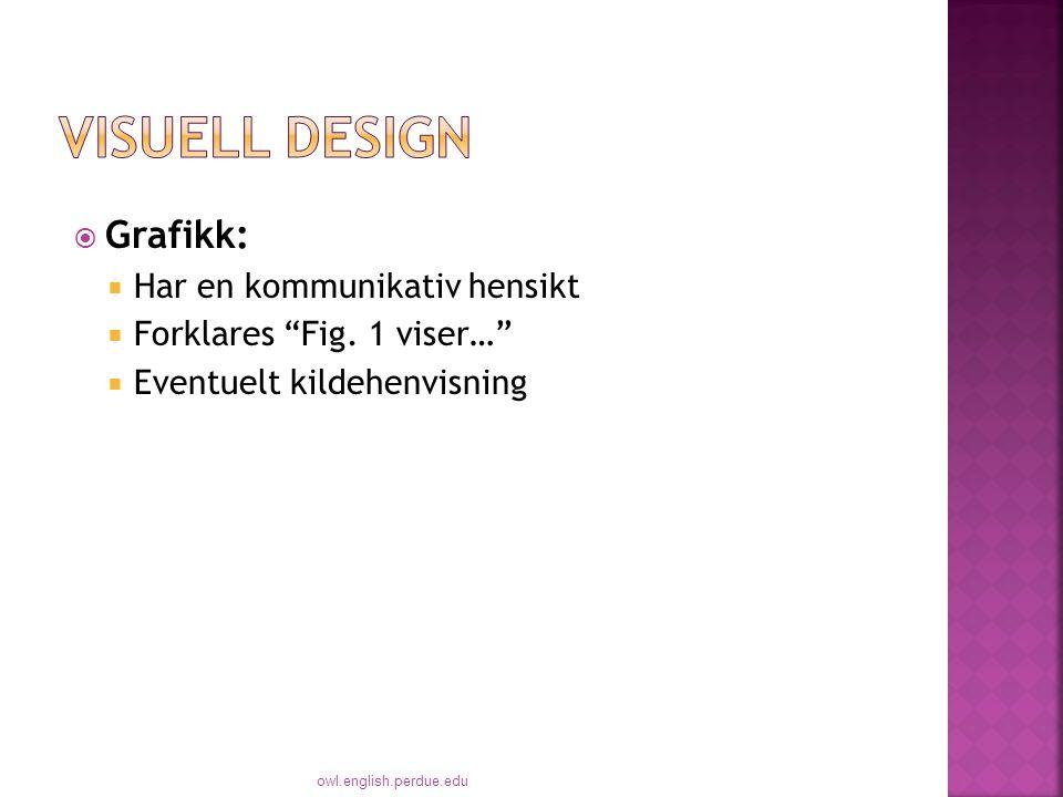 Visuell Design Grafikk: Har en kommunikativ hensikt