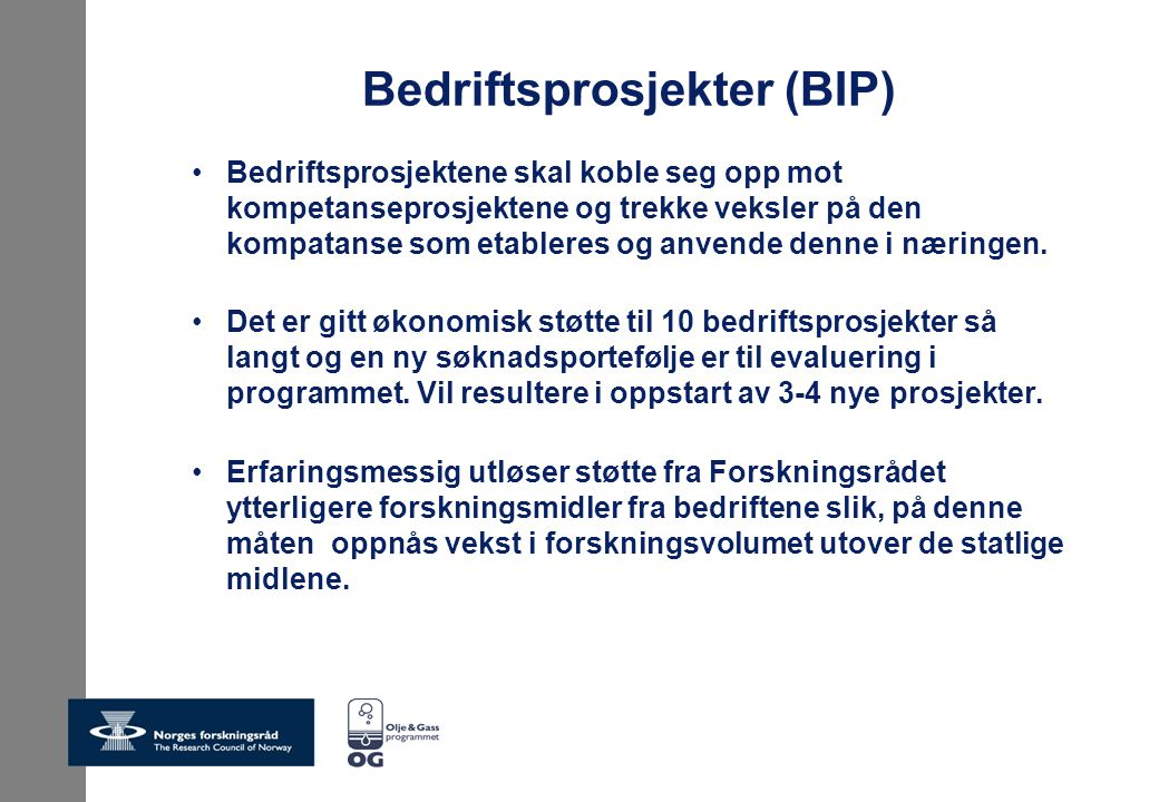 Bedriftsprosjekter (BIP)