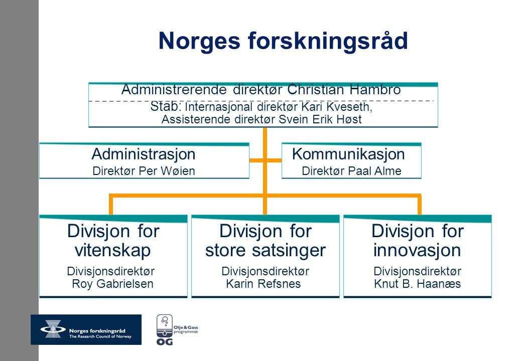 Norges forskningsråd Divisjon for vitenskap