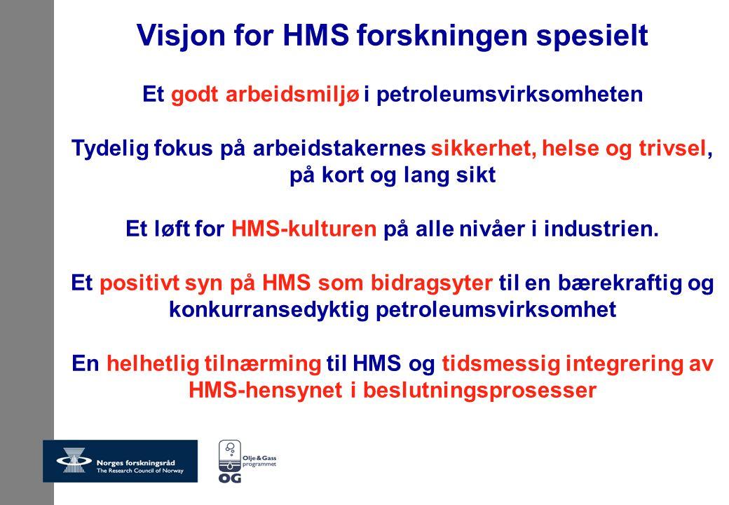 Visjon for HMS forskningen spesielt