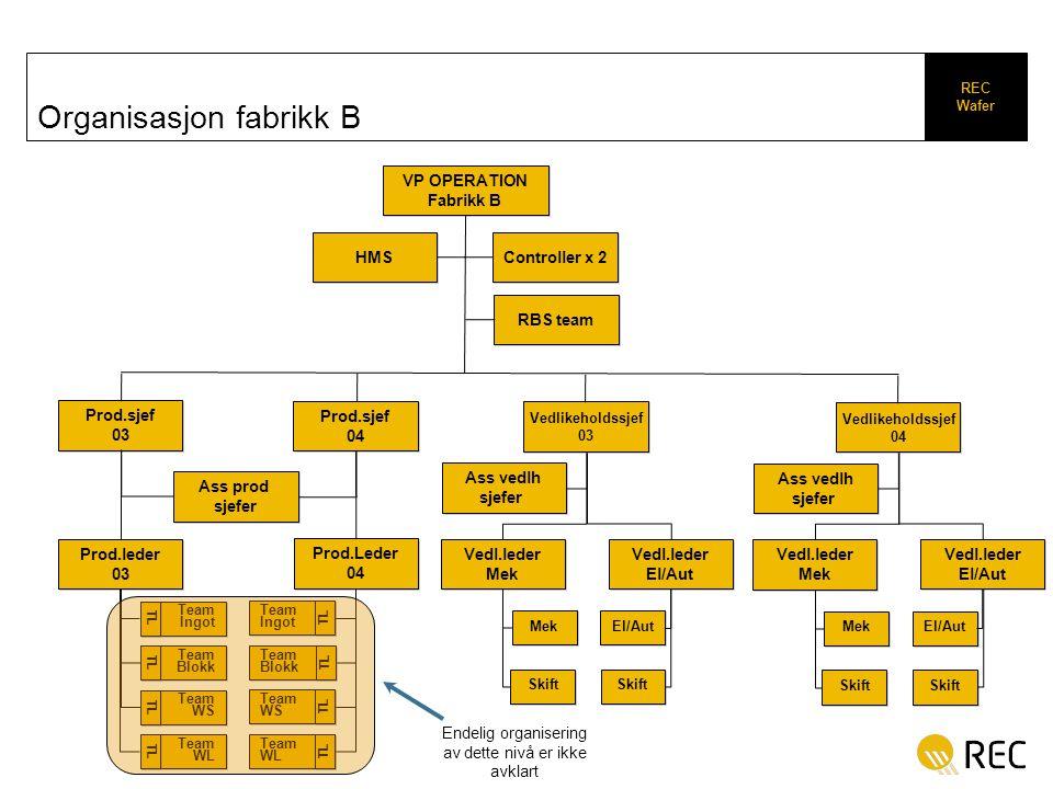 Organisasjon fabrikk B