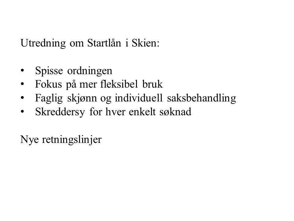 Utredning om Startlån i Skien: