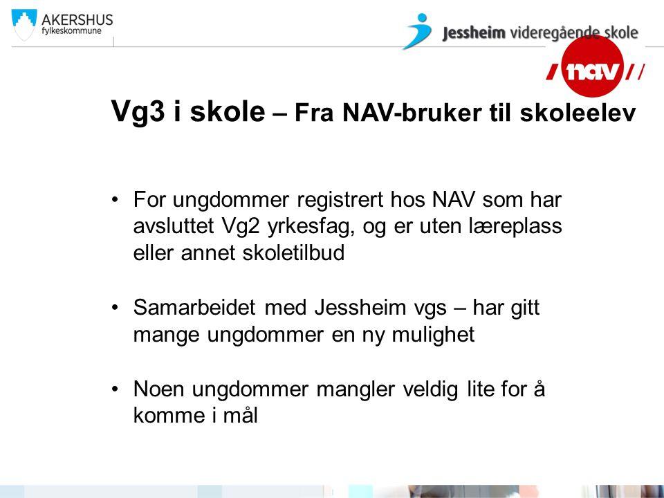 Vg3 i skole – Fra NAV-bruker til skoleelev