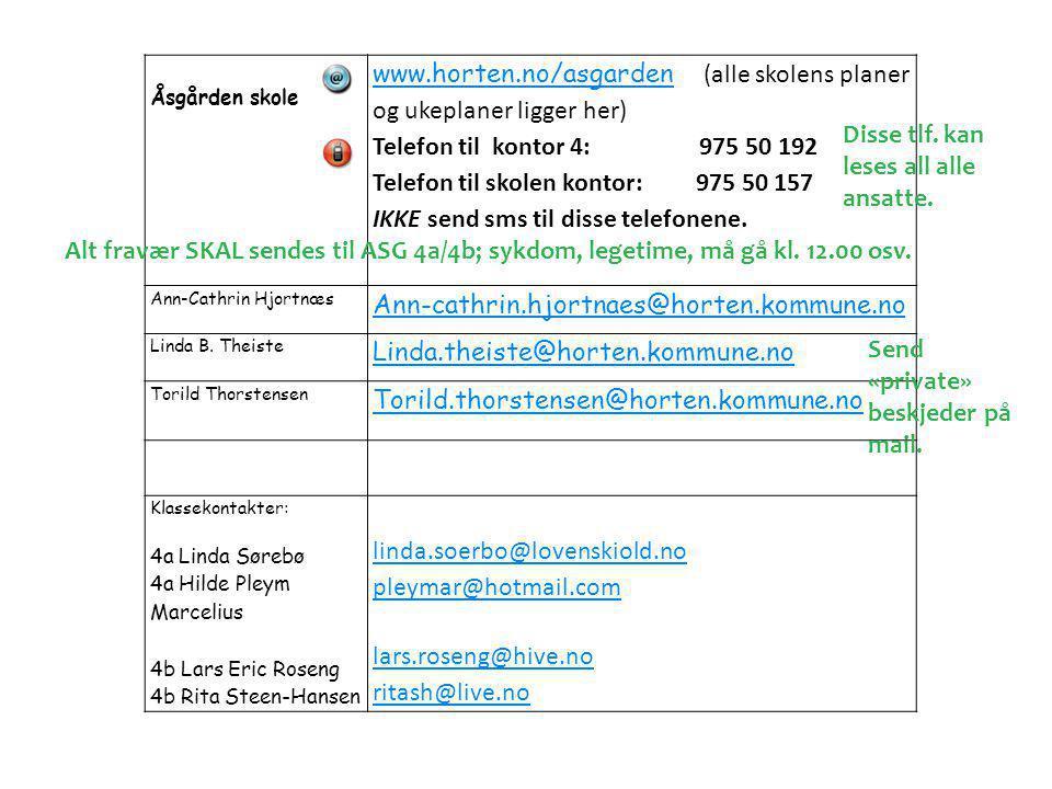 www.horten.no/asgarden (alle skolens planer og ukeplaner ligger her)