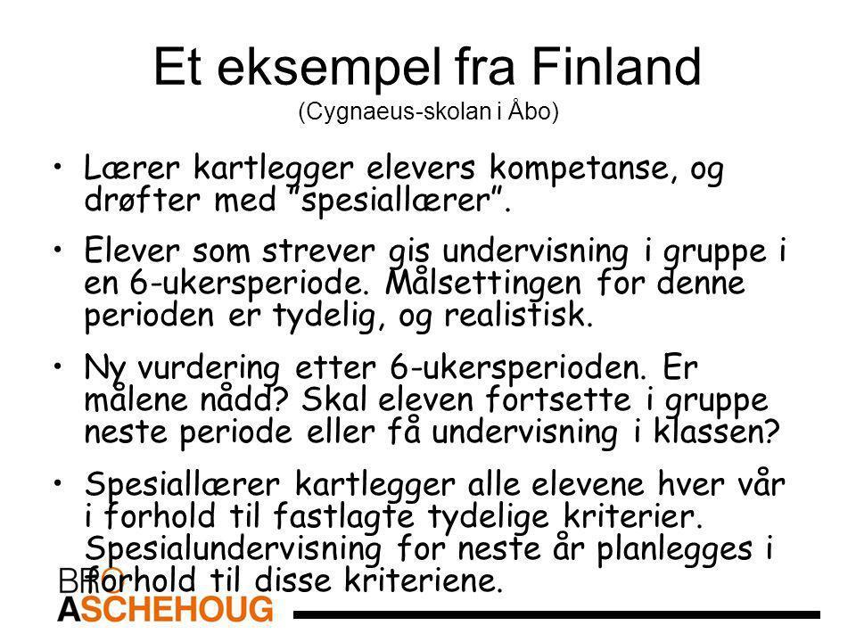 Et eksempel fra Finland (Cygnaeus-skolan i Åbo)
