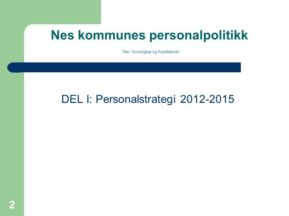 Nes kommunes personalpolitikk klar, forutsigbar og forpliktende