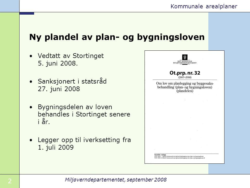 Ny plandel av plan- og bygningsloven