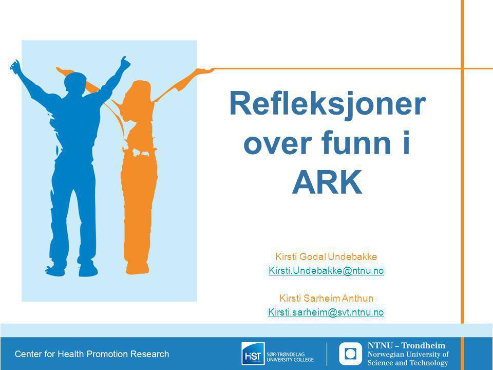 Refleksjoner over funn i ARK