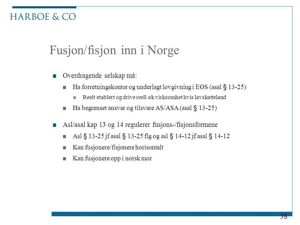 Fusjon/fisjon inn i Norge