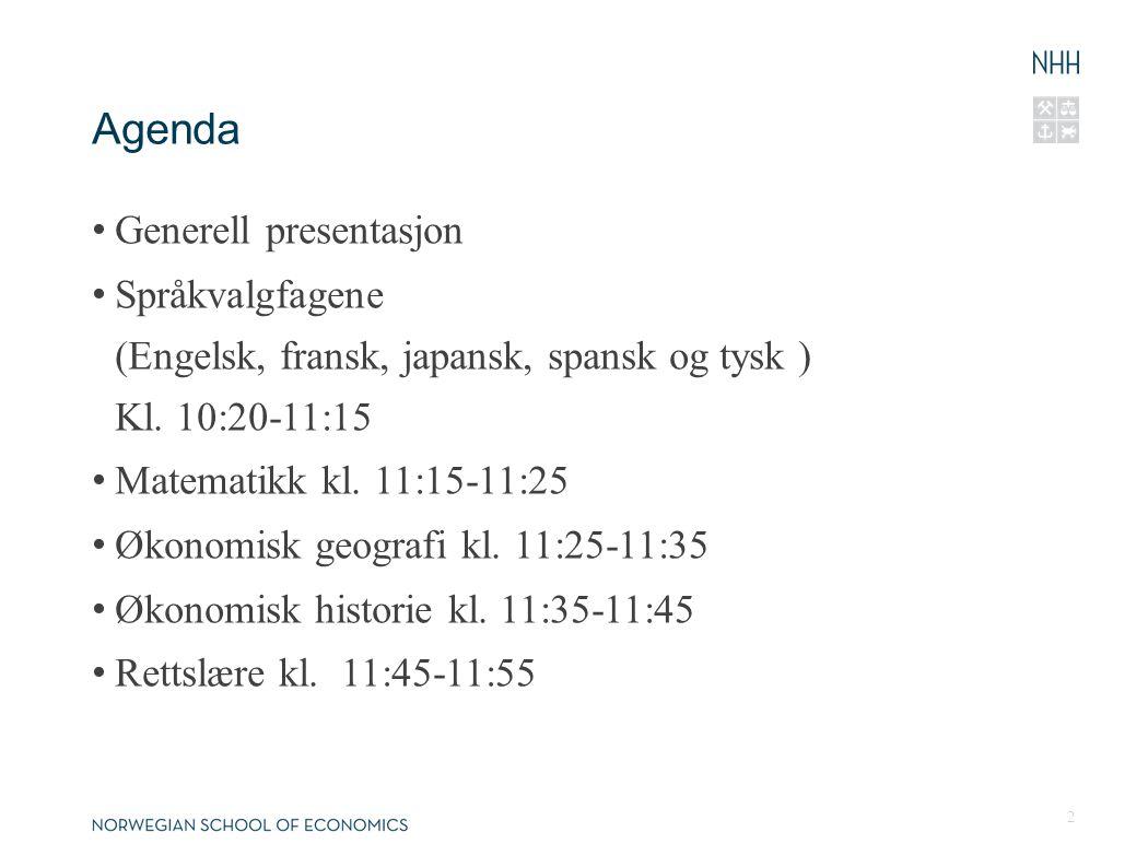 Agenda Generell presentasjon