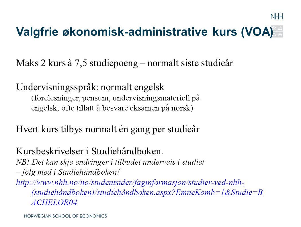Valgfrie økonomisk-administrative kurs (VOA)