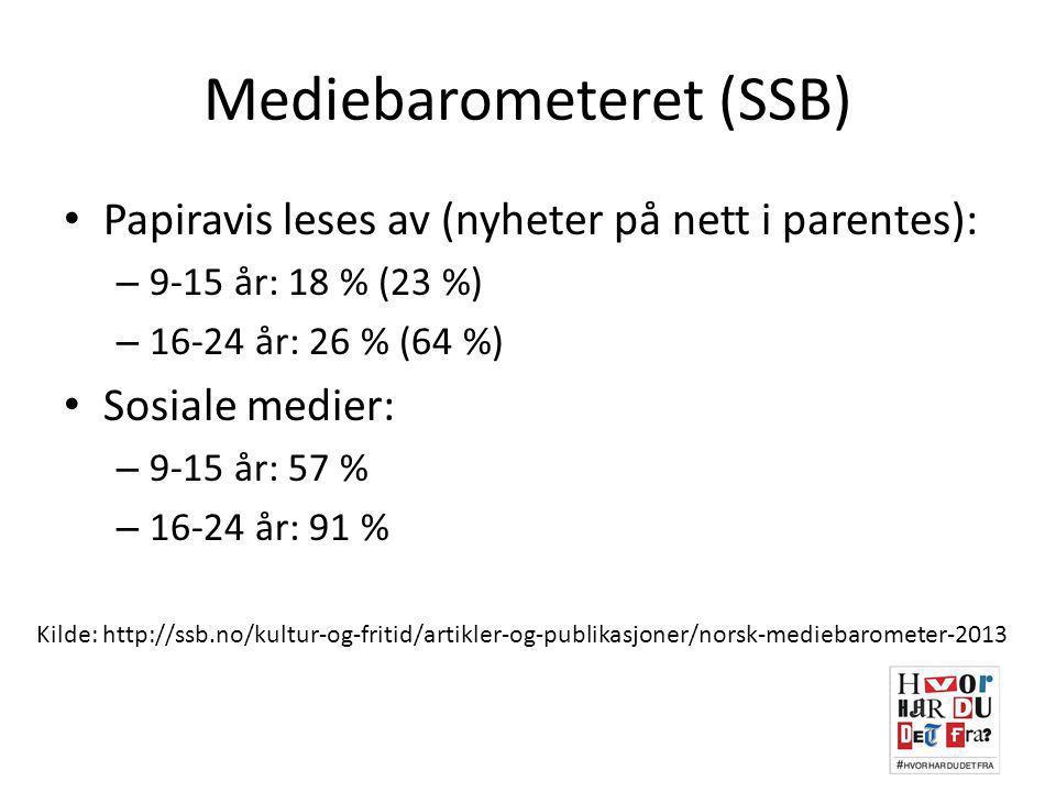 Mediebarometeret (SSB)