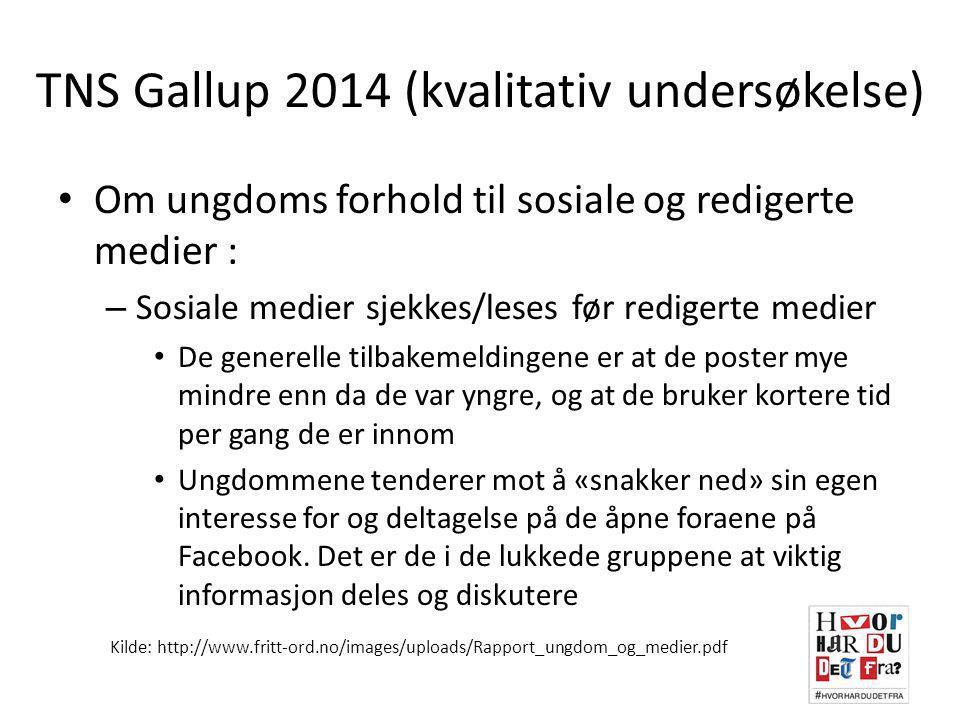 TNS Gallup 2014 (kvalitativ undersøkelse)