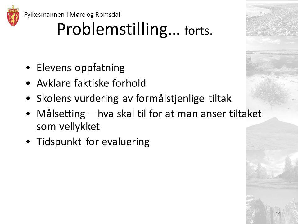 Problemstilling… forts.