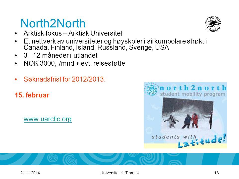 North2North Arktisk fokus – Arktisk Universitet