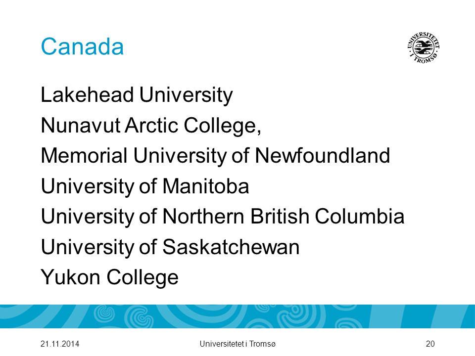 Canada Lakehead University Nunavut Arctic College,