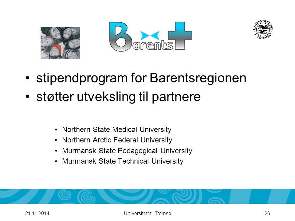 stipendprogram for Barentsregionen støtter utveksling til partnere