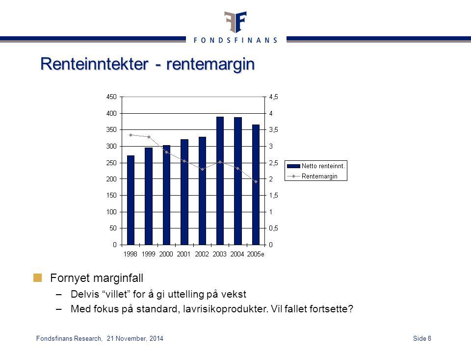 Renteinntekter - rentemargin