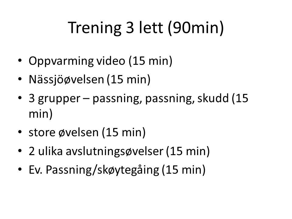 Trening 3 lett (90min) Oppvarming video (15 min)