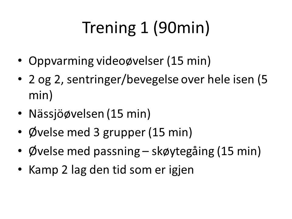Trening 1 (90min) Oppvarming videoøvelser (15 min)