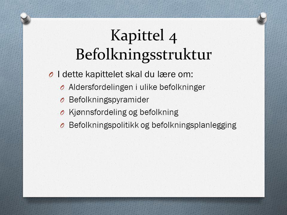 Kapittel 4 Befolkningsstruktur