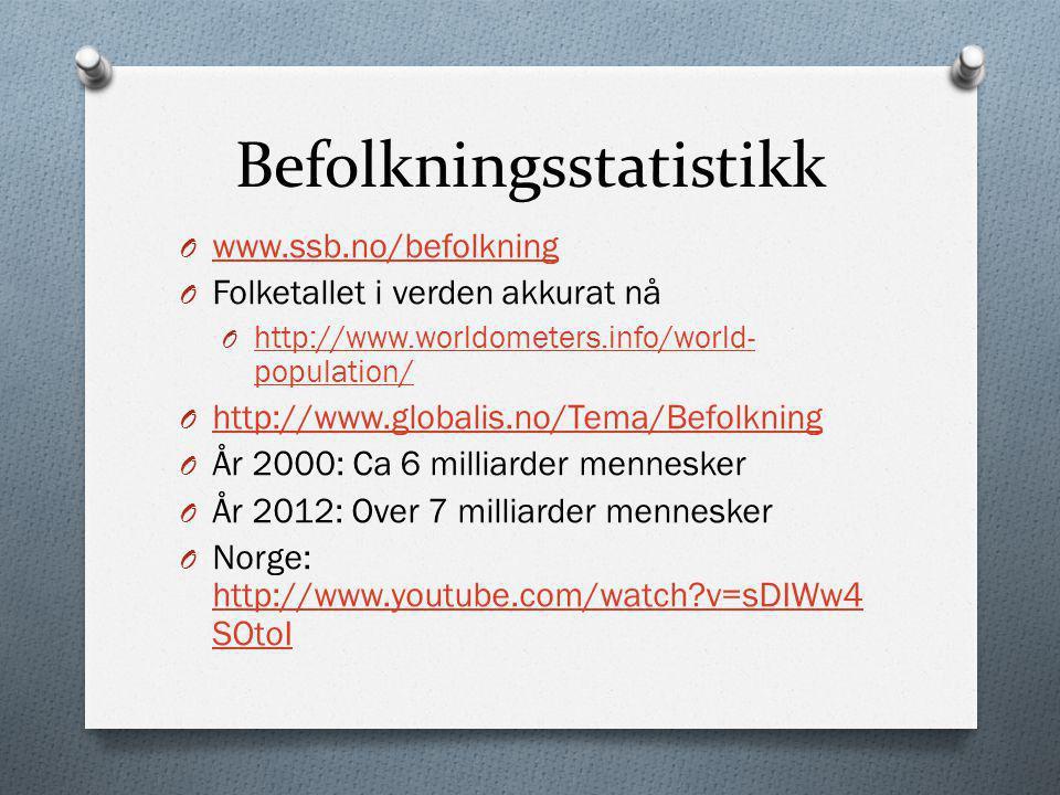 Befolkningsstatistikk