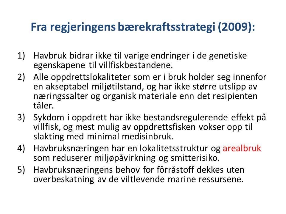 Fra regjeringens bærekraftsstrategi (2009):