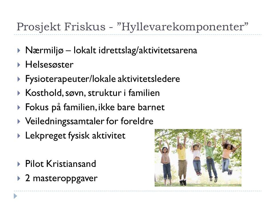 Prosjekt Friskus - Hyllevarekomponenter