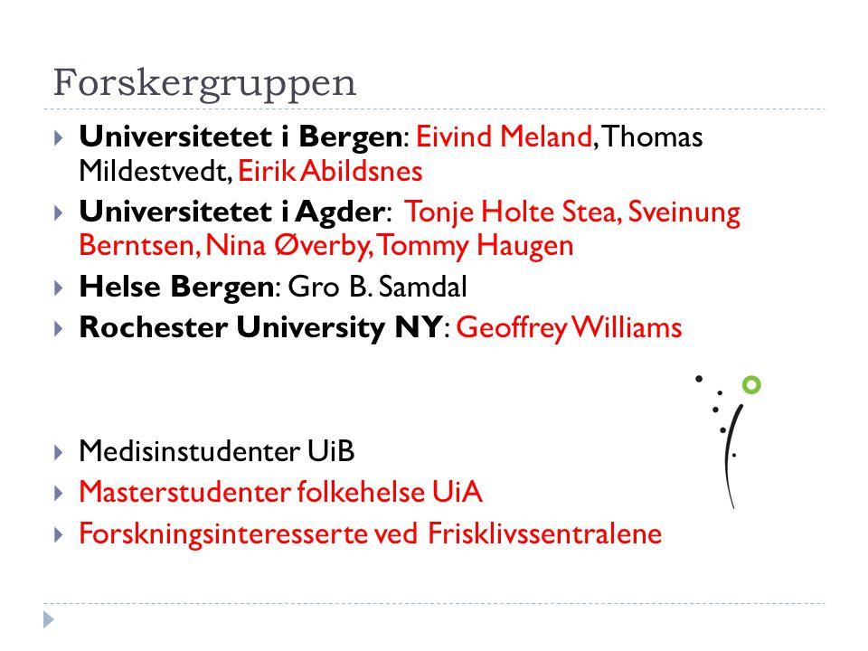 Forskergruppen Universitetet i Bergen: Eivind Meland, Thomas Mildestvedt, Eirik Abildsnes.