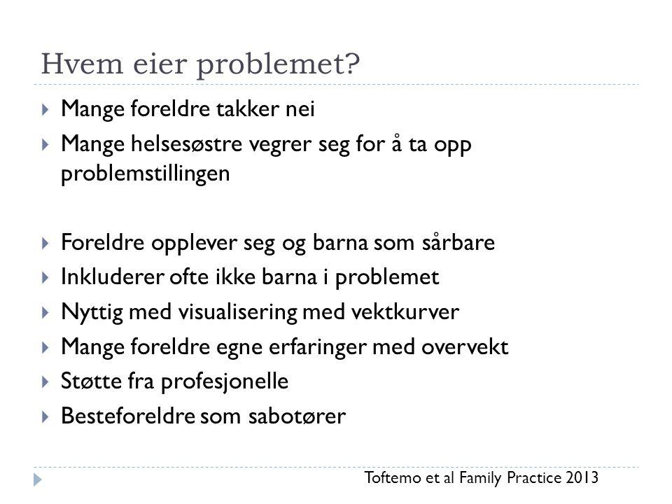 Hvem eier problemet Mange foreldre takker nei