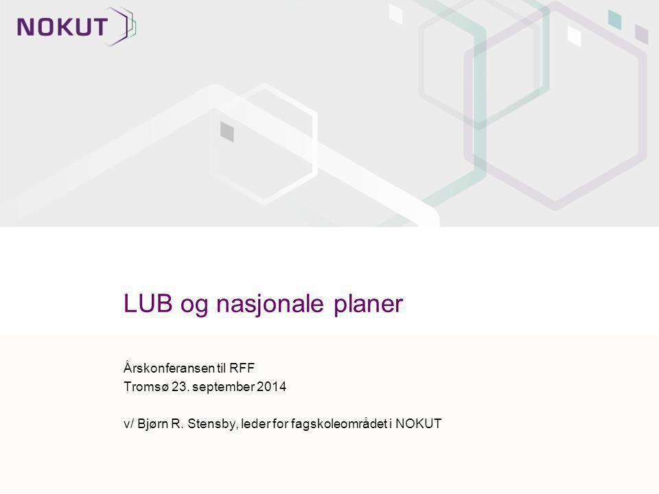 LUB og nasjonale planer
