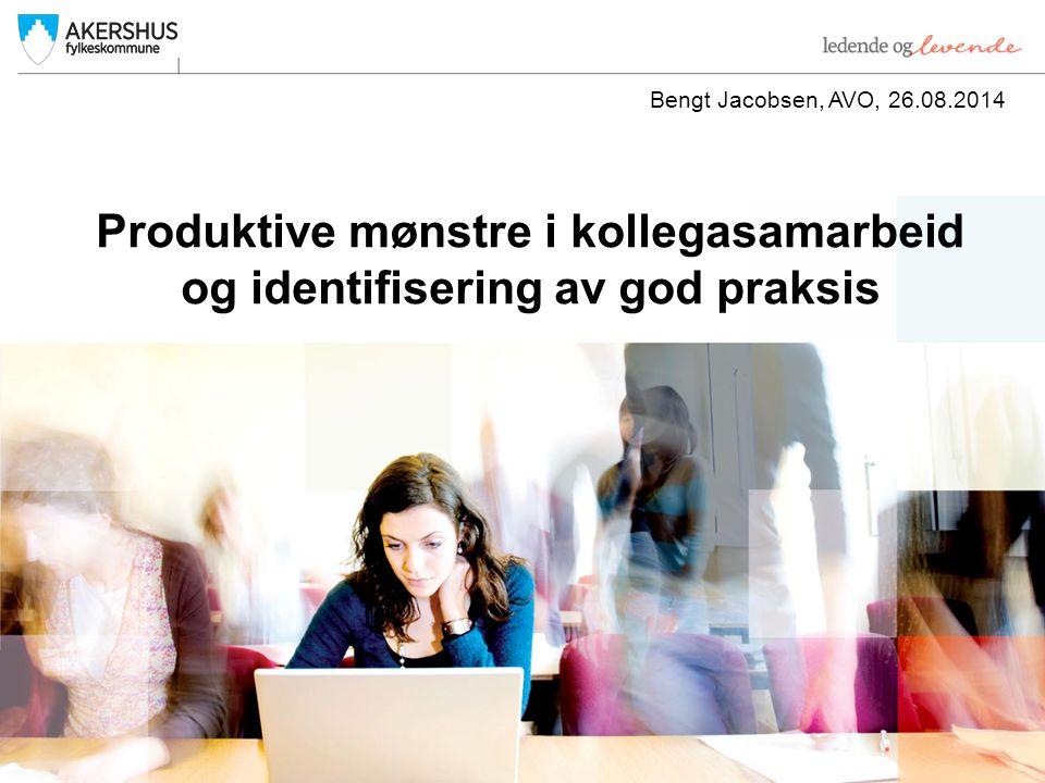 Produktive mønstre i kollegasamarbeid og identifisering av god praksis