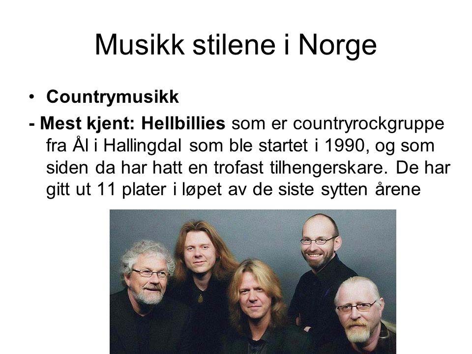 Musikk stilene i Norge Countrymusikk