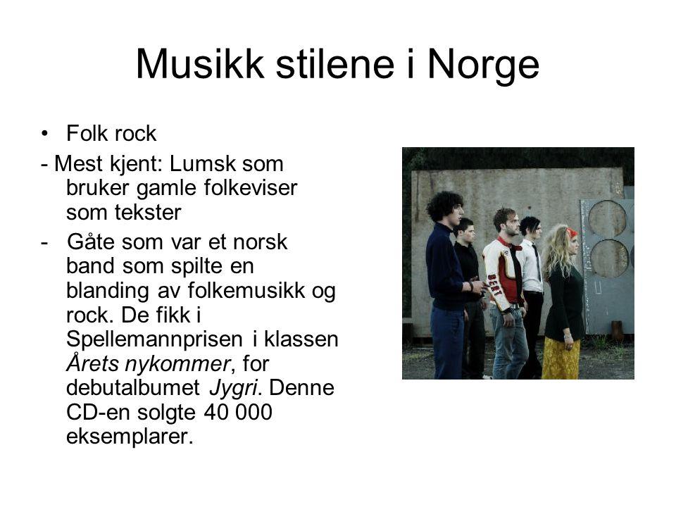 Musikk stilene i Norge Folk rock